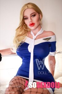 Sexy Big Breasts Realistic Blonde Red Thick Lips Adult Doll